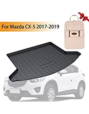 Psler Vehicle Rear Cargo Liner Trunk Tray Floor Mat for Mazda CX-5 2017-2020