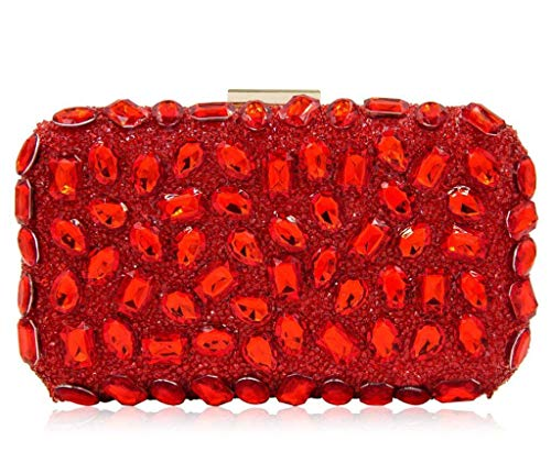 Orange Crossbody Shopping embrayage Sac pour Evening couleur Rouge à Soirée bandoulière Bag Femme Orange BwTxrUB