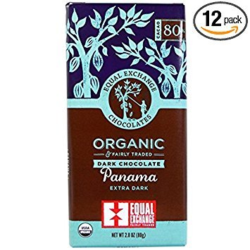 Equal Exchange, Organic Panama Extra Dark Chocolate Bar Whole Trade Guarantee, 2.8 - Equal 80 Exchange