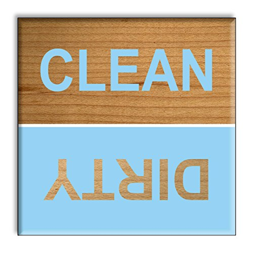 clean-dirty-dishwasher-magnet-blue-spring-beach-colors-cute-retro-wooden-style