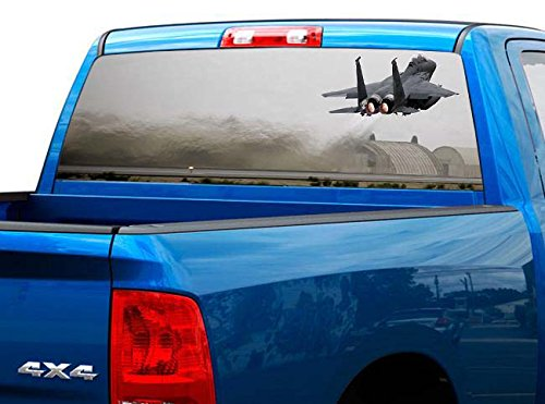 Window Ranger Sliding - P480 USAF Air Force Tint Rear Window Decal Wrap Graphic Perforated See Through Universal Size 65