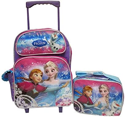 """Disney Princess Frozen Elsa Anna 16/"""" inches backpack /& Lunch Box Licensed NEW"""