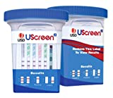 10 Panel UScreen 2 Drug Test Cup with BUP, CLIA-Waived with 3 Adulterants (box of 25)