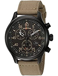 Men's TW4B10200 Expedition Field Chrono Tan/Black Canvas...