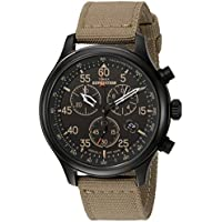 Timex Men's Expedition Field Chrono Black/Tan Canvas Strap Watch