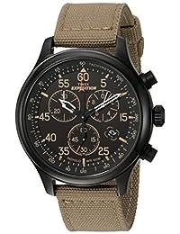 Timex Men's Expedition Field Chrono Black/Tan Canvas Strap Watch - TW4B102009J