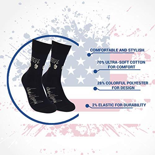 d12f293ead8 President Donald Trump Crew Socks with Signature – Unisex Cotton Donald  Trump Dress Socks for Men ...