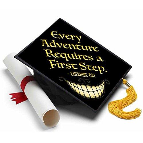 Tassel Toppers Alice in Wonderland Cheshire Cat Grad Cap Decorated Grad Caps - Disney Quotes]()
