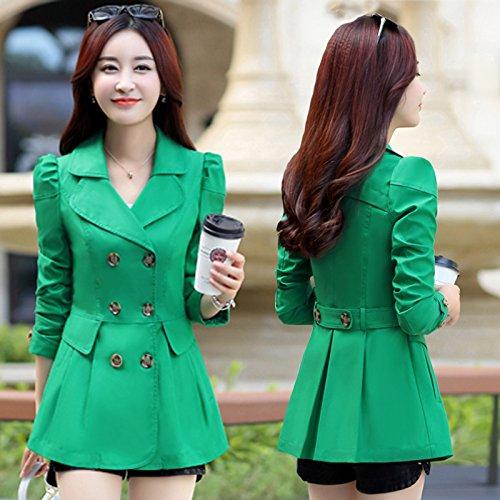 Mujer Suéter Lana Jersey La Coat green De Chaqueta KYH Cortavientos Coat 5wBSU7