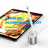 Apple Pencil Charging Stand,Wofalodata Portable Charger Dock Station with Built-in Charging Cable Adapter, Cradle Dock/Desktop Pen Holder Holder for Apple Pencil iPad Pro Pencil/Pen(SILVER)