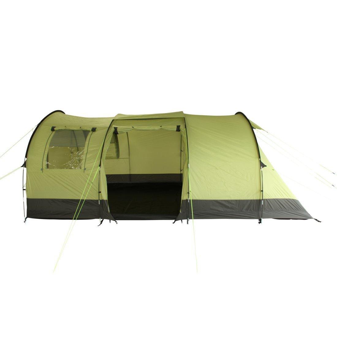 10T Outdoor Equipment Unisex's Devonport 5 Tunnel Tent, Green, One