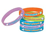 Aqua Awesome Bubble Guppies Party Assorted Colors Rubber Wristband Favors, 2