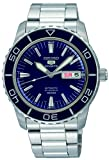 Seiko Men's SNZH53 Seiko 5 Automatic Dark Blue Dial Stainless Steel...