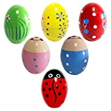 Baby : 6 Wooden Percussion Musical Egg Maracas Egg Shakers