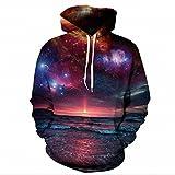 Hoodies Space Galaxy Sweatshirt 3D Hoodie New Coat Streetwear Fashion Hat Sweatshirt Men Women color 2 S