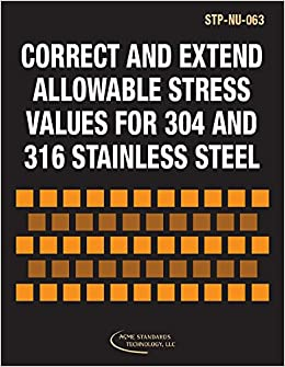 ASME STP-NU-063 Correct and Extend Allowable Stress Values