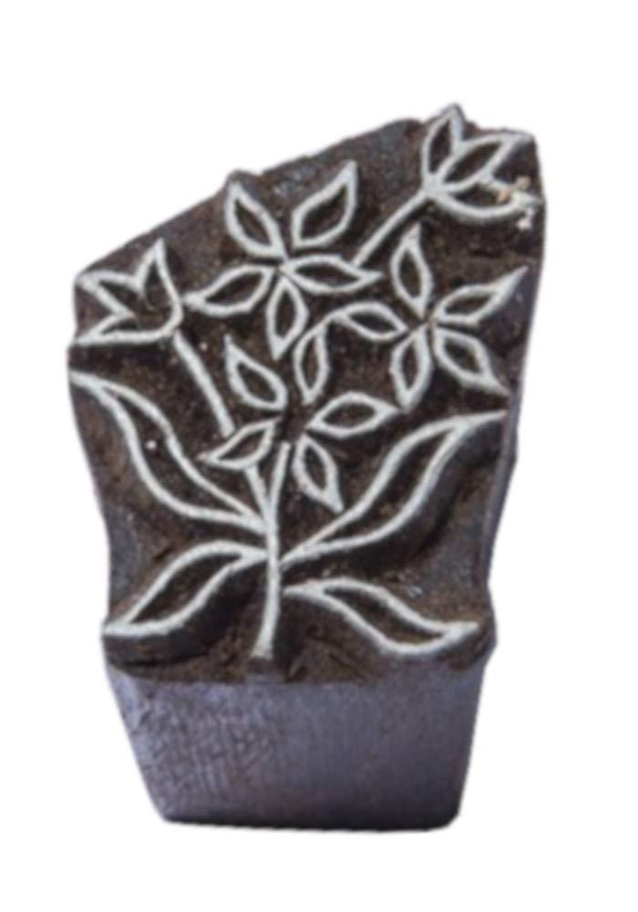 Blockwallah Tiny Flowers Wooden Block Stamp