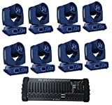 Eshine 8Pic/lot with DMX 384 Controller 16/20 Channels Touch Screen 7R Sharpy Beam 230W Moving Head Light stage Lighting For Wedding Christmas Birthday DJ Disco KTV Bar Event Party Show