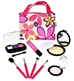Toys : Click N' Play Pretend Play Cosmetic and Makeup Set with Floral Tote Bag