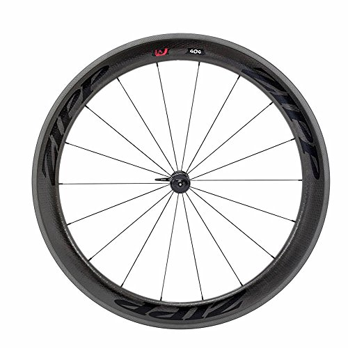 Clincher Front Wheel - Zipp 404 Firecrest Carbon Clincher Front Wheel 700c V3 Black Decal