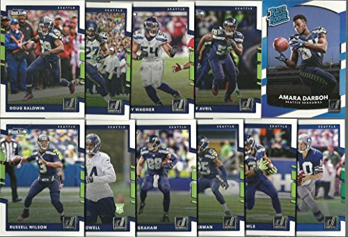 (2017 Panini Donruss Football Seattle Seahawks Team Set 11 Cards W/Rookies)