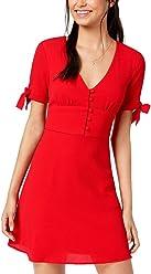 1424b8fab B Darlin Juniors' Tie-Sleeve Fit & Flare Dress