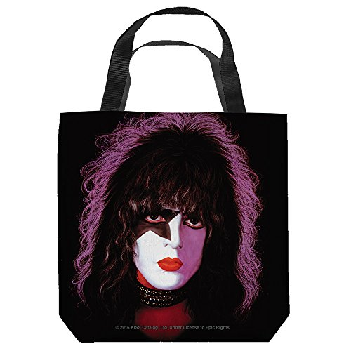 [KISS Starchild Tote Bag 13X13 White] (Kiss Catman Makeup)
