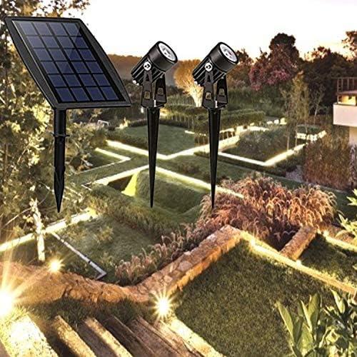 LAMP SUI Solar de uno a Dos Esquina, luz del Paisaje Solar llevó la luz del Punto de Tierra del Enchufe luz del Punto Dos Luces Ligeras de la Cabeza del Doble