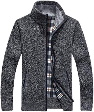 メンズ 上品 厚手 ニット カーディガン ジャケット ビジネス カジュアル ジップアップ セーター コート