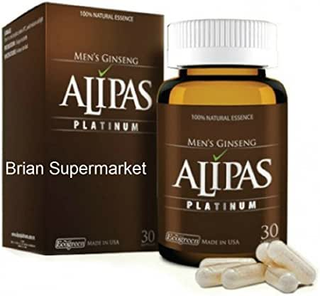 2 Box - ALIPAS Ginseng Platinum for Men Testosterone -Eurycoma Longifolia -Sexual Health