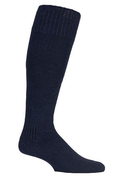 David James - 1 coppie uomo lunghe ginocchio trekking invernali lana pesca  calze in bianco e blu (39-45 eur cffab15c065b