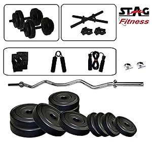 Stag 3 Ft Curl Rod Set 20 kg SFPC20GHSD Home Gym Set