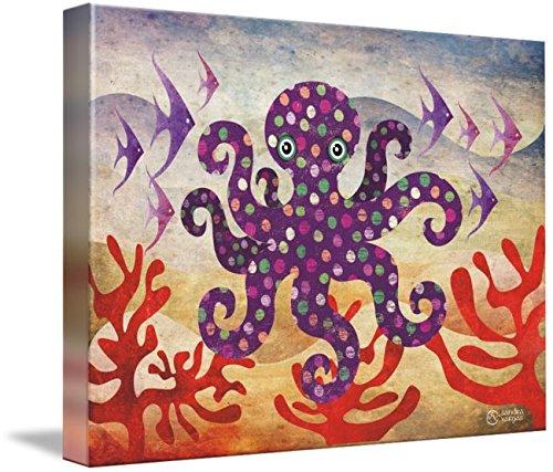 Wall Art Print Octavius Octopus by SANDRA VARGAS
