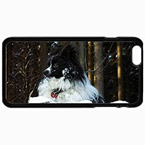 Customized Cellphone Case Back Cover For iPhone 6 Plus, Protective Hardshell Case Personalized Everything Is Looking Good From Up Here Black