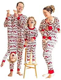 Matching Family Pajamas Sets Christmas PJs Holiday Outfitss with Printed Pants Sleepwear
