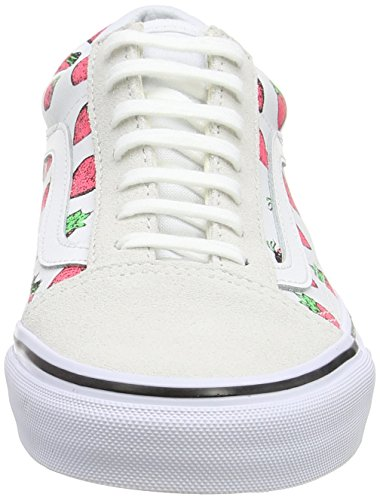 Basses White True Skool Taille Strawberries Unique Baskets Marron Vans U Adulte Mixte Blanc Old FqAw4I