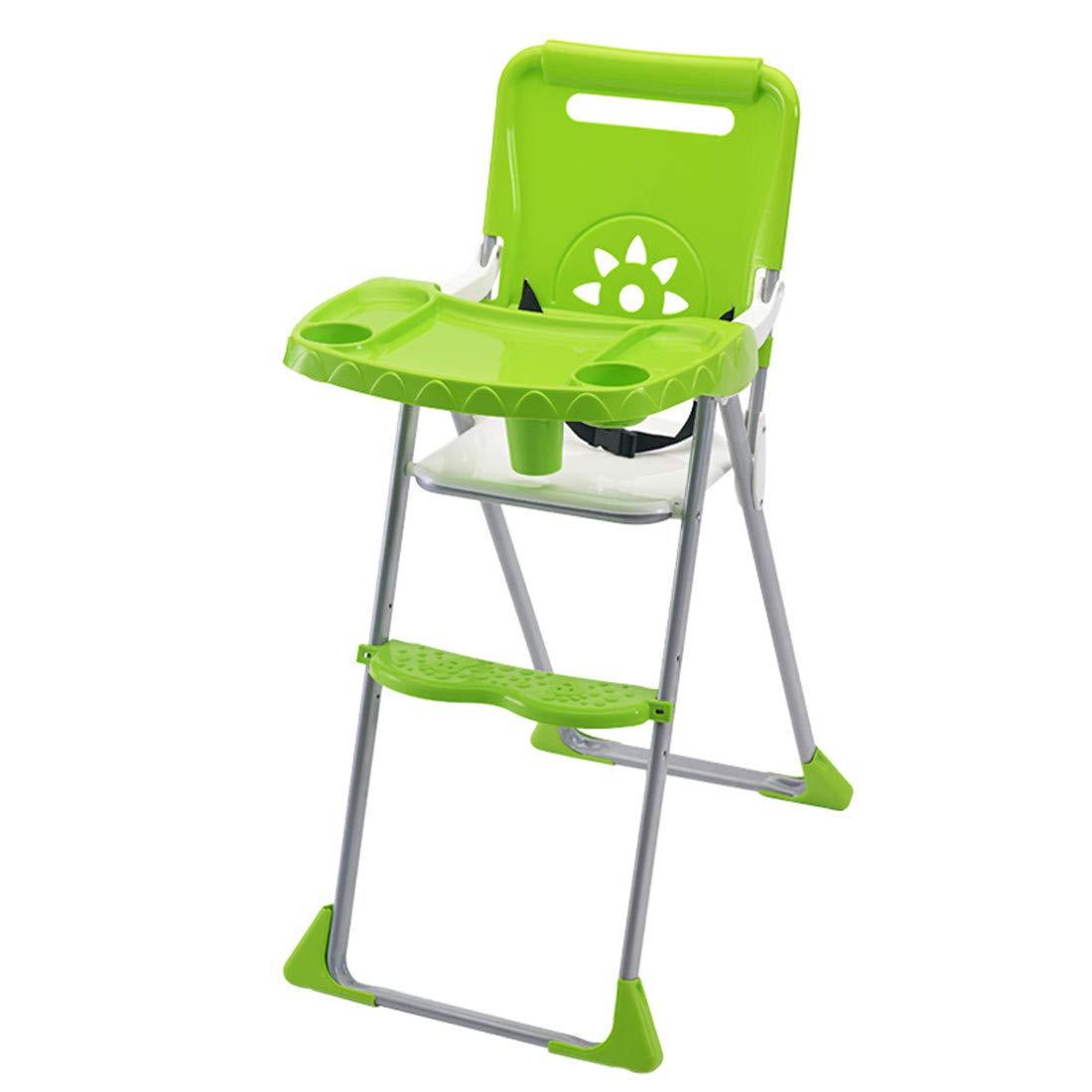 ベビーチェア 赤ちゃん いす 多機能 食事 ハイチェア 折りたたみ ポータブル 子供 イス ダイニング 食事椅子 キッズチェア(6ヶ月~5才)  green B07SNWCH8X