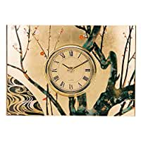 Ikeda lacquer gilt Japanese-style table clock 64023