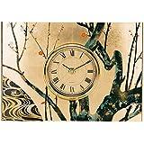 いけだ 漆芸 金箔和風置時計 光琳梅 64023