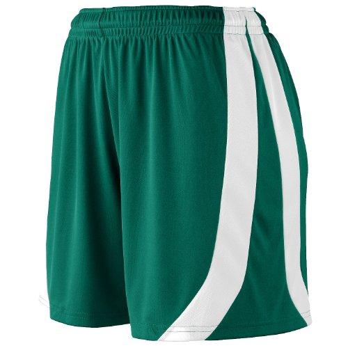 Augusta Sportswear Big Girl's Triumph Short, DARK GREEN/WHITE, Medium by Augusta Sportswear