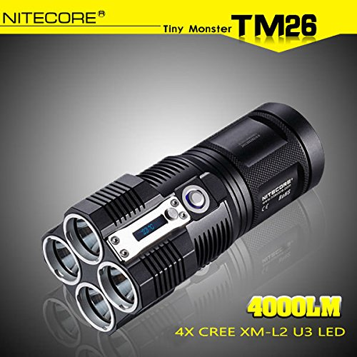 Moppi NiteCore TM26 4x CREE XM-L2 U3 4000LM LED Taschenlampe 2015