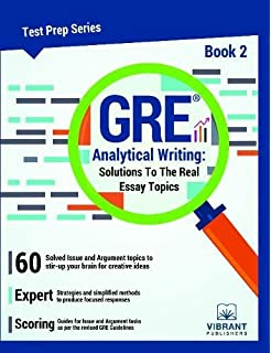 Buy GRE Analytical Writing  Solutions to the Real Essay Topics   Book     Volume    Test Prep  Book Online at Low Prices in India   GRE Analytical  Writing      ThoughtCo