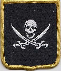 Parche bordado de bandera de pirata Jack Rackman, (cy042)