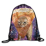Galaxy Funny Pizza Cat Unisex Drawstring Backpack Travel Sports Bag Drawstring Beam Port Backpack. Review