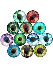 TOYANDONA 100pcs Dome Acrylic Cabochons Assorted Eyes Flatback Cabochons Rhinestone Embellishments for DIY Craft Jewelry Making Accessories 18mm
