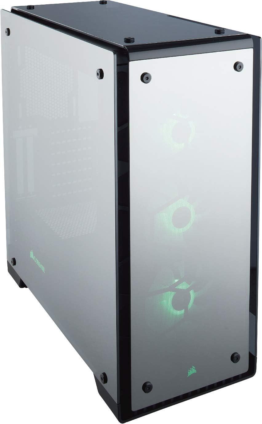 Corsair Crystal 570X RGB - Caja de PC, ATX de vidrio templado, con ventilador, iluminación RGB LED, Negro Transparente