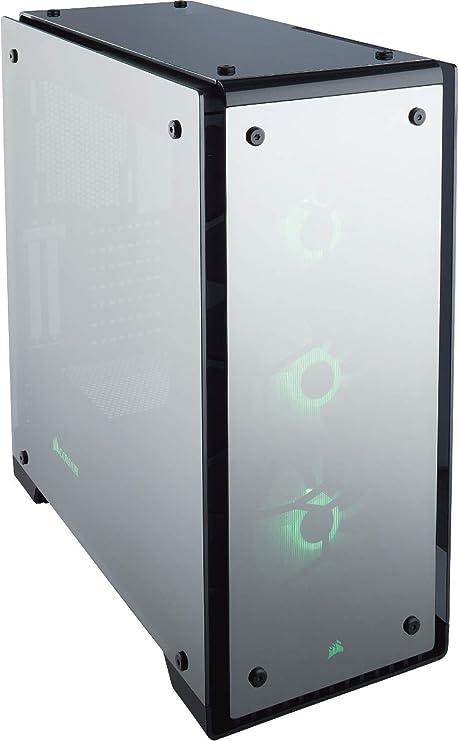 Corsair Crystal 570X RGB - Caja de PC, ATX de vidrio templado, con ventilador, iluminación RGB LED, Negro Transparente: Amazon.es: Informática