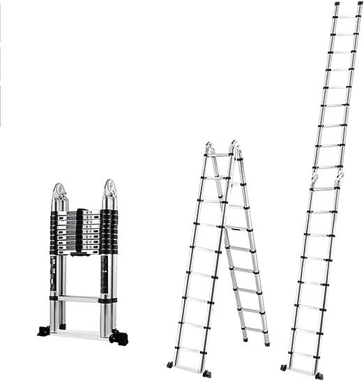 Escaleras telescópicas ZR Meet EN131, Escalera Alta telescópica de Aluminio, Escalera Multiusos, 330 libras/150 kg: Amazon.es: Hogar