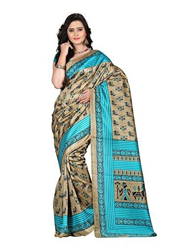 e-VASTRAM Women's Art Mysore Printed Silk(NS10B_Green)-ETH