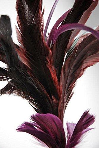 Richland Fashion Feather 26'' Burgundy Wired Set of 12